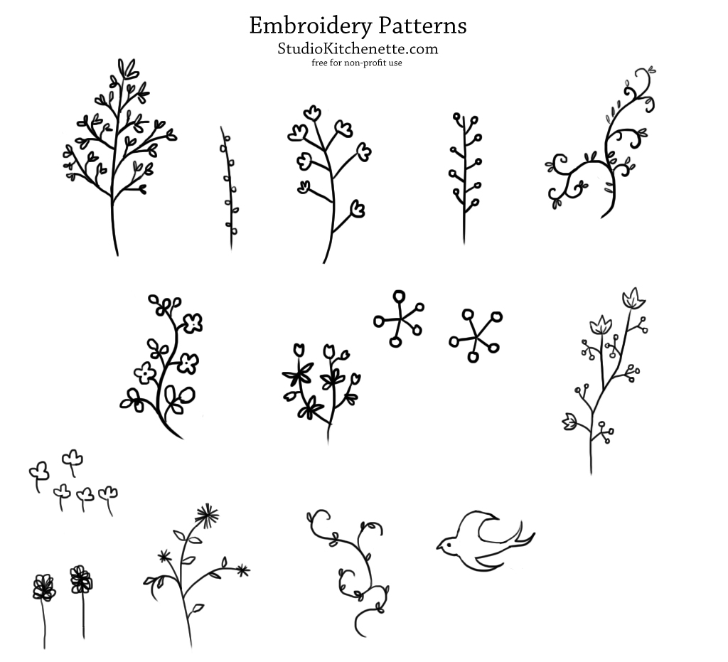 Fabric Wall Hanging Plans Tutorial Embroidery Patterns Kittenette